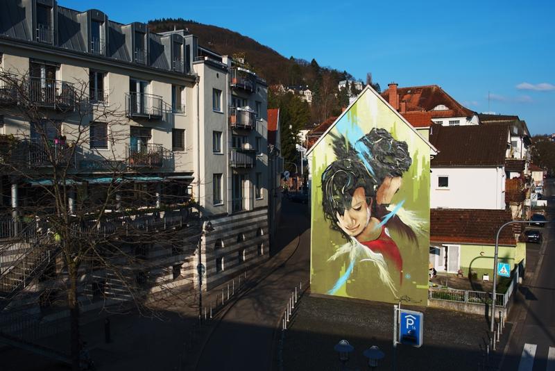 grafiti w Heidelbergu