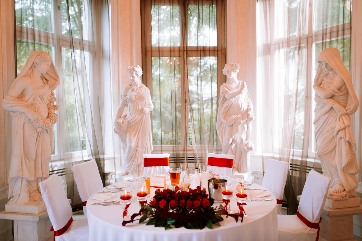 detale wystroju sali weselnej